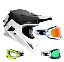 THOR SECTOR Nivel CASCO CROSS Motocross Blanco y negro two-x RACE Gafas de