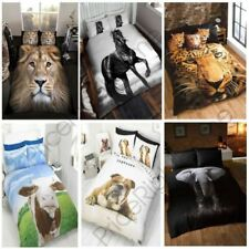 Photo Imprimé Animal housse couette simple, double & King - Chevaux, léopard,