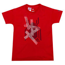 Infant Boys adidas Spiderman T-Shirt In Red- Ribbed Collar- Crew Neck- Side
