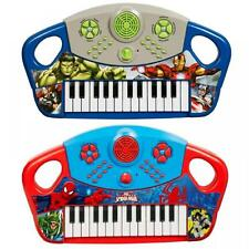 MARVEL ELECTRONIC KEYBOARD MUSICAL PIANO KIDS CHILDRENS BOYS TOY INSTRUMENT GIFT