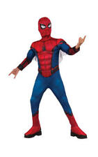Kids Boys Childs Deluxe Spiderman Fancy Dress Costume Outfit Muscle Chest L