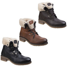 Cotswold asthall Impermeable Botines Mujer Cuero Con Cordones Zapatos Ligeros
