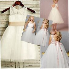 Formal Christening Party Princess Pageant Bridesmaid Wedding Flower Girls Dress