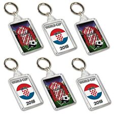 6 Keyrings - Football - World Cup 2018 - Party Bag Fillers - Team Croatia