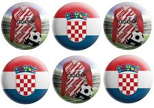 6 Badges - Football - World Cup 2018 - Party Bag Fillers - Team Croatia