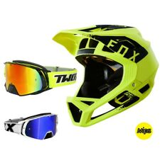 Fox Proframe Mink MTB Helm gelb schwarz Downhill Enduro TWO-X Rocket DH Brille