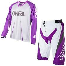 ONEAL ELEMENTO FR Blocker mtb jersey e PANTS BIANCO violetto Mountainbike enduro