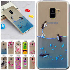 For Samsung Galaxy Soft Painted Silicone Clear TPU Gel Case Cover Slim Skin Back