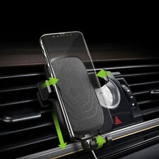 FDGAO Qi Wireless 10W Fast Car Charger Air Vent Mount Holder For iPhone X 8Plus