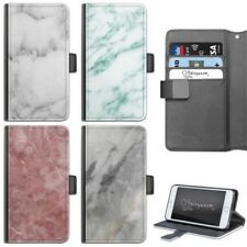 grigio marmo Custodia telefono iPhone 6,7, 8 Plus, X COVER FLIP PELLE PER APPLE
