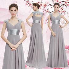 Ever-Pretty Mother of Bride Dresses Long Chiffon Evening Party A Line Grey 09672
