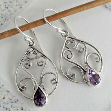 Gemstone Solid Silver, 925 Bali Handcrafted Earring 39264