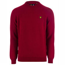 Men's Lyle And Scott Crew Neck Lambswool Jumper In Red Marl