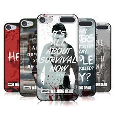 OFFICIAL AMC THE WALKING DEAD QUOTES BLACK SOFT GEL CASE FOR APPLE iPOD TOUCH