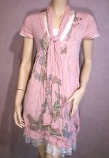 Tunique Robe ONLY FASHION rose 2 volants dentelle taille 38 40 42 / M L XL  NEUF