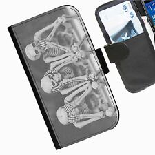 Calavera mal Funda cartera cuero para móvil iPhone Samsung Blackberry huawei htc