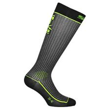 Sixs Long Socks Yellow Fluo / Carbon , Calze Sixs , motociclismo