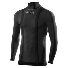 Sixs Kid L/s Turtle Neck Tee Black Carbon , Intimo Sixs , motociclismo