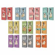 HEAD CASE DESIGNS PIPER THE PUG LEATHER BOOK WALLET CASE COVER FOR LG PHONES 1