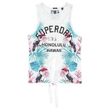 Superdry Tropical Knot Back Tank Coral Fluro Nep , Magliette Superdry , moda