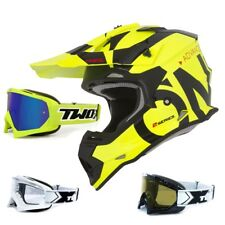 Oneal 2series RL CASCO CROSS mancha negro amarillo two-x Carrera Gafas Mx