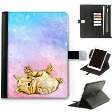 hairyworm GATTO GATTINO 360 girevole pelle Deluxe Apple iPad Custodia