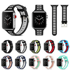 For Apple Watch iWatch Series 3/2/1 38mm 42mm Silicone Band Replacement Strap