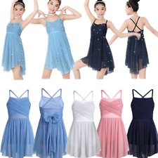 Kids Girls Ballet Dance Dress Leotard Ballerina Dancing Gymnastics Skating Skirt
