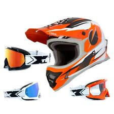 Oneal 3Series Casco da Cross Riff Arancione Two-X Occhiali Racing Motocross