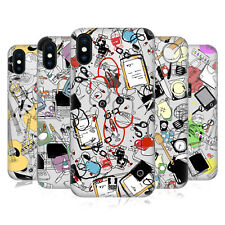 HEAD CASE DESIGNS MESTIERI DOODLE COVER RETRO RIGIDA PER APPLE iPHONE TELEFONI