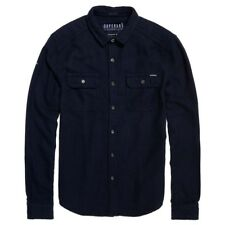 Superdry Logger L/s Shirt Navy Grit , Camisas Superdry , moda , Ropa hombre