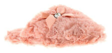 New Ladies/Womens Baby Pink Fluffy Mules Slippers UK Size