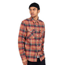 Brixton - Bowery L/S Flannel Shirt Navy / Copper Hemd Langarm