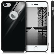 FUNDA PARA APPLE IPHONE 7 8 CASE CON MARCO DE TPU Y VIDRIO TEMPLADO