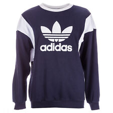 Womens adidas Originals Trefoil Crew Sweatshirt In Legend Ink