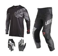 Leatt GPX 4.5 Combinata Motocross Nero Dh Enduro Pantalone Cross Jersey Mx