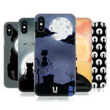 HEAD CASE DESIGNS GATTO E LUNA COVER RETRO RIGIDA PER APPLE iPHONE TELEFONI