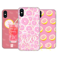 HEAD CASE DESIGNS LIMONATA ROSA COVER RETRO RIGIDA PER APPLE iPHONE TELEFONI