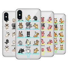 HEAD CASE DESIGNS ANIMALI DA YOGA COVER RETRO RIGIDA PER APPLE iPHONE TELEFONI