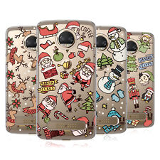 HEAD CASE DESIGNS DOODLES NATALE COVER RETRO RIGIDA PER MOTOROLA TELEFONI 1
