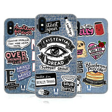 HEAD CASE DESIGNS TOPPE DENIM STAMPATE CASE IN GEL PER APPLE iPHONE TELEFONI