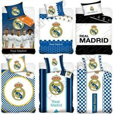 Officiel Real Madrid Simple & Double Housse Couette Football Literie, Coussins