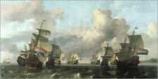 Poster, stampa su tela o vetro acrilico The Dutch Fleet of ... - L. Backhuysen