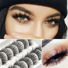 10 Pairs Long Natural Thick Handmade False Eyelashes Eye Lashes Fake 3D Mink