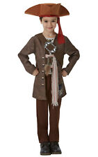 Kids Boys Childs Deluxe Jack Sparrow Fancy Dress Costume Outfit Pirate Halloween