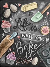 Póster, lienzo o cuadro en metacrilato Life is what you bake it - Lily & Val