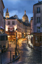 Poster / Toile / Tableau verre acrylique Street in Montmartre wi... - J. Becke