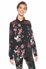 Desigual Black Magnolia Floral Bird Blouse Shirt XS-XXL UK 8-18 RRP£74 Pretty