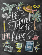 Póster, lienzo o cuadro en metacrilato To Travel Is To Live - Lily & Val