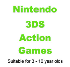 Action Nintendo 3DS Games Suitable for Children (3-10yrs) Choose Game From Lists